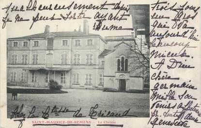 """CPA FRANCE 01 """"Saint Maurice de Rémens, le château"""""""