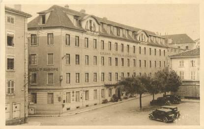"CPA FRANCE 01 ""Bourg en Bresse, grand hôtel de l'Europe"""