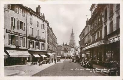 "CPSM FRANCE 01 ""Bourg, avenue Alsace Lorraine"" / COMMERCE"