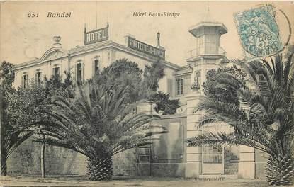 "CPA FRANCE 83 ""Bandol, Hôtel Beau Rivage"""