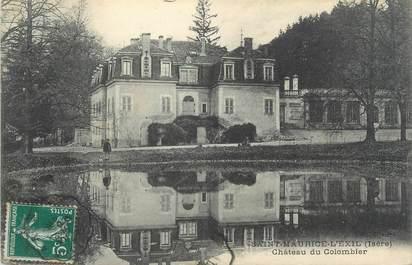 """CPA FRANCE 38 """"Saint Maurice l'Exil, château du Colombier"""""""