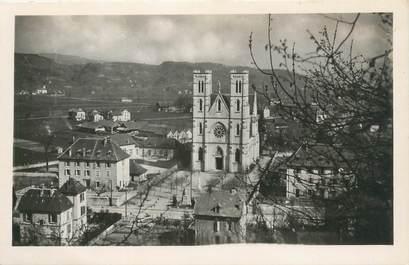 """CPSM FRANCE 38 """"Saint Laurent du pont, l'église"""""""