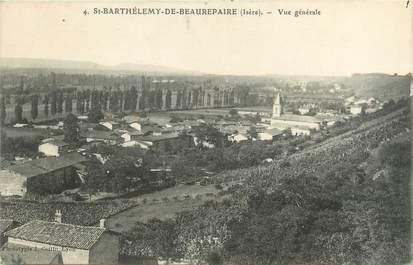 """CPA FRANCE 38 """"Saint Barthélémy de Beaurepaire, vue générale"""""""