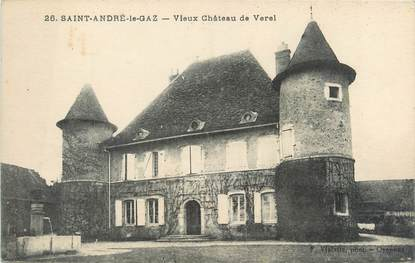 """CPA FRANCE 38 """"Saint André le Gaz, vieux château de Verel"""""""