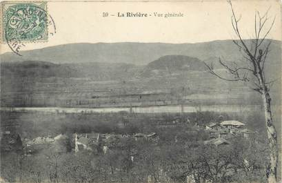 """CPA FRANCE 38 """"La Rivière, vue générale"""""""