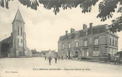 """/ CPA FRANCE 77 """"Villiers Saint georges, place de l'hôtel de ville"""""""