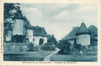 """CPA FRANCE 38 """"Environs de la Tour du Pin, château de Cuirieu"""""""