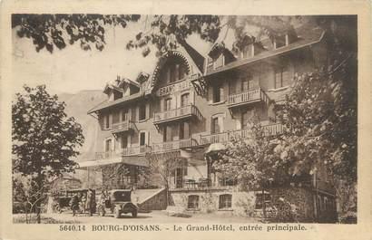 """CPA FRANCE 38 """"Bourg d'Oisans, le grand hôtel, entrée principale"""""""