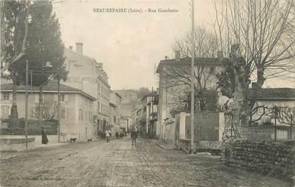 """CPA FRANCE 38 """"Beaurepaire, rue Gambetta"""""""