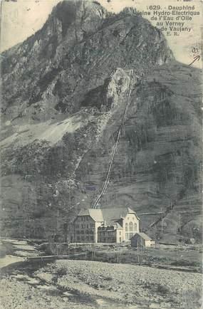 """CPA FRANCE 38 """"Usine Hydro Electrique de l'Eau d'Olle au Verney de Vaujany"""""""