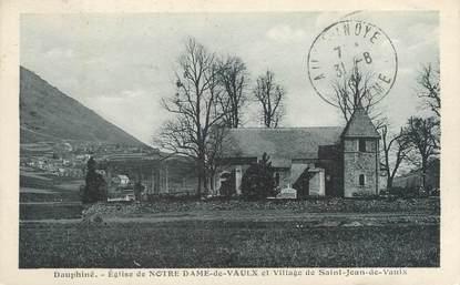 """CPA FRANCE 38 """"Notre Dame de Vaulx, église"""""""