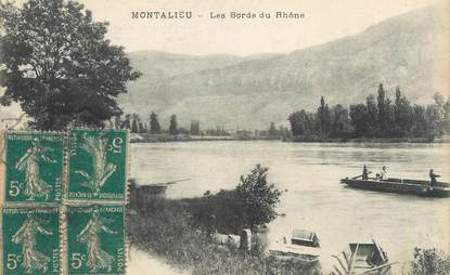 "CPA FRANCE 38 ""Montalieu, les bords du rhône """