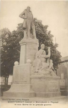 """CPA FRANCE 38 """"Montferrat, monument à Pégoud"""""""