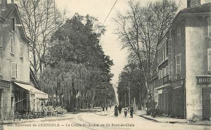 """CPA FRANCE 38 """"Le Cours Saint André vu du Pont de Claix"""""""
