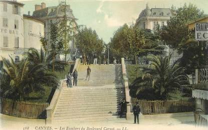 """/ CPA FRANCE 06 """"Cannes, les escaliers du Bld Carnot"""""""