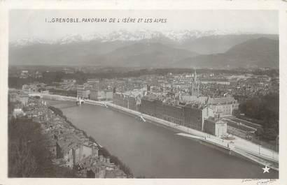 """CPA FRANCE 38 """"Grenoble, panorama de l'Isère et les Alpes"""""""