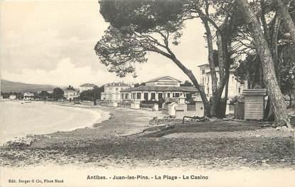 """/ CPA FRANCE 06 """"Antibes, Juan Les Pins, la plage, le casino"""""""