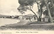 """06 Alpe Maritime / CPA FRANCE 06 """"Antibes, Juan Les Pins, la plage, le casino"""""""