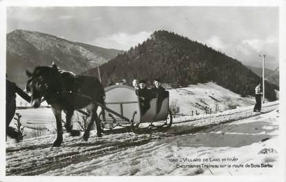 """CPSM FRANCE 38 """"Villard de Lans, excursion en traineau"""" / ATTELAGE"""