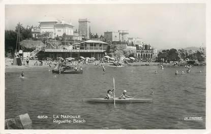 """/ CPSM FRANCE 06 """"La Napoule, Raguette beach"""""""