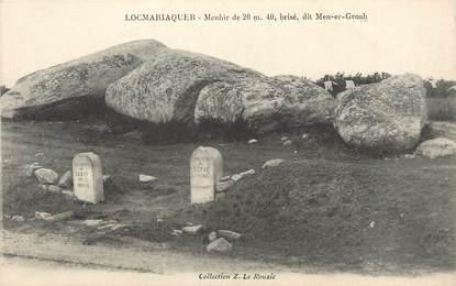 """/ CPA FRANCE 56 """"Locmariaquer"""" / MENHIR"""