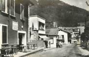 """73 Savoie CPSM FRANCE 73 """"La Léchère Les Bains, centre commercial de la station thermale"""""""