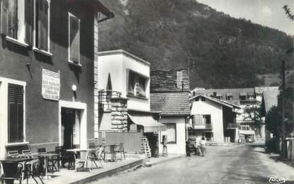 """CPSM FRANCE 73 """"La Léchère Les Bains, centre commercial de la station thermale """""""