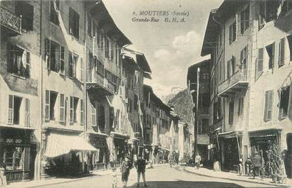 "CPA FRANCE 73 ""Moutiers, grande rue """