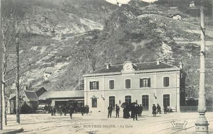"CPA FRANCE 73 ""Moutiers Salins, la gare"""