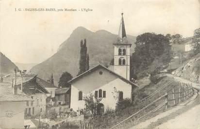 """CPA FRANCE 73 """"Salins les Bains, l'église"""""""