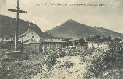 """CPA FRANCE 73 """"Saint Jean de Belleville et pointe de Crève tête"""""""