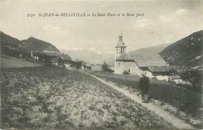 """CPA FRANCE 73 """"Saint Jean de Belleville, le mont Blanc et le Mont Jovet """""""