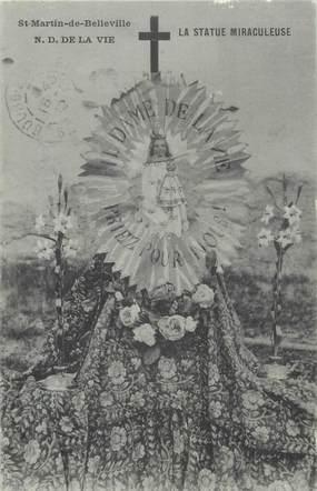 """CPA FRANCE 73 """"Saint Martin de Belleville, la statue miraculeuse"""""""