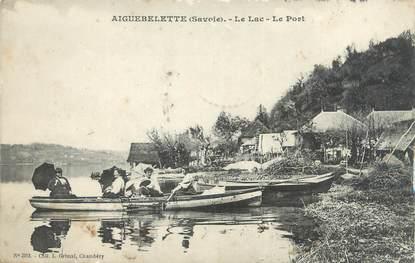 """CPA FRANCE 73 """"Aiguebelette, le lac, le port"""""""