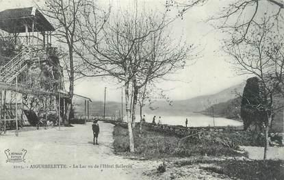 """CPA FRANCE 73 """"Aiguebelette, le lac vu de l'hôtel Bellevue"""""""