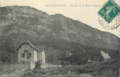 """CPA FRANCE 73 """"Aiguebelette, chalet et le Mont Lepine"""""""