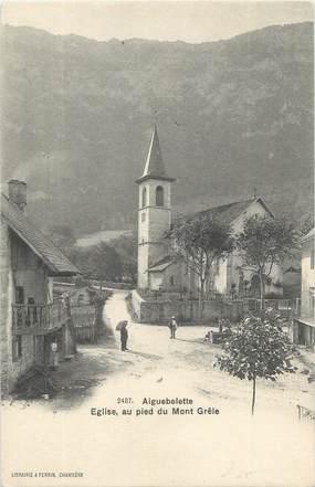 """CPA FRANCE 73 """"Aiguebelette, église, au pied du Mont Grêle"""""""