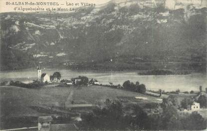 """CPA FRANCE 73 """"Saint Alban de Montbel, lac et village d'Aiguebelette"""""""