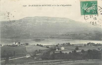 """CPA FRANCE 73 """"Saint Alban de Montbel, et le lac d'Aiguebelette"""""""
