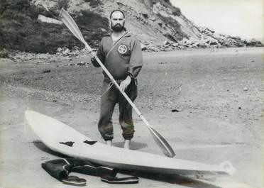 """PHOTO ORIGINALE / PHOTO DE PRESSE / SURF """"1ère traversée de la Manche en Surf Ski"""""""
