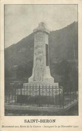 """CPA FRANCE 73 """"Saint Béron, monument aux morts"""""""
