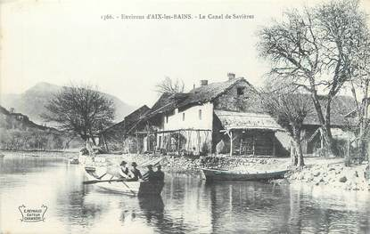 """CPA FRANCE 73 """"Le canal de Savières, environs d'Aix Les Bains"""""""