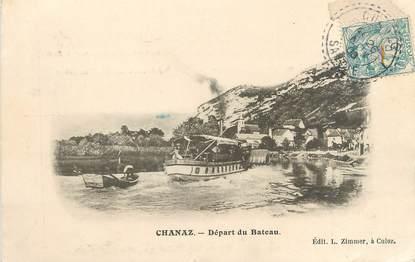 """CPA FRANCE 73 """"Chanaz, départ du bateau"""""""