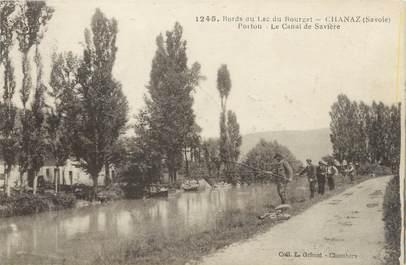 """CPA FRANCE 73 """"Chanaz, le canal de Savière"""" / PECHE"""