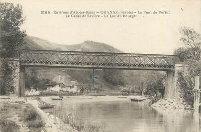 """CPA FRANCE 73 """"Chanaz, le pont du Portou, la canal de Savière"""""""