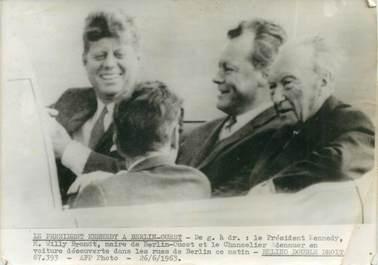 """PHOTO ORIGINALE / PHOTO DE PRESSE / POLITIQUE """"Berlin, le Président KENNEDY, 1963"""""""