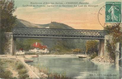 """CPA FRANCE 73 """"Chanaz, le pont de Portou, le canal de Savière, le lac du Bourget"""""""