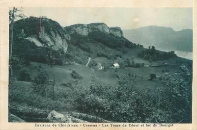 """CPA FRANCE 73 """"Environs de Chindrieux, Cessens, les tours de César et lac du Bourget"""""""