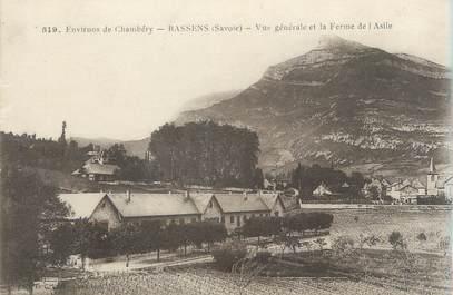 """CPA FRANCE 73 """"Bassens, vue générale et la ferme de l'Asile"""""""