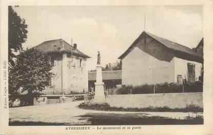 """CPA FRANCE 73 """"Avressieux, le monument et la poste"""""""